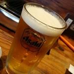 マルタケ鶏店 - 生ビール