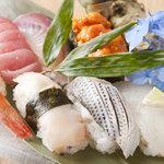 那古野 沢瀉食堂 - 料理写真:鮮魚はお刺身はもちろん、お寿司もお造りします。