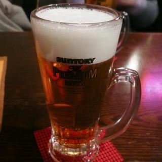 アミーゴ・デ・アミーゴ - ドリンク写真:生ビールはプレミアムモルツ