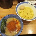 兼虎 - 味玉辛辛つけ麺 1,000円。
