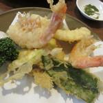 大樹 - 【海老いか天麩羅定食】天ぷら①