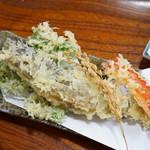 手打そば もみじ野 - 岩魚の天ぷら