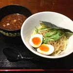 ガッツリつけ麺 - 醤油つけ麺(750円)+煮たまご(100円)→500円