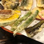 飛弾そば 小舟 - 野菜の天ぷら