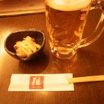 旬彩食房 雅 - お通しとビール