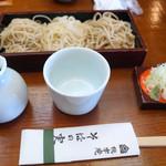 桃李庵そばの実 - 料理写真:三色そば 1120円