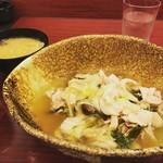 旬菜 おきざ和 - 豚と白菜のみぞれ煮。