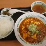 日高屋 - 麻婆豆腐定食@600