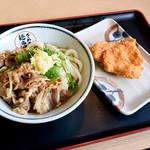 さぬき麺市場 郷東店 - 肉ぶっかけ冷とチキンカツ