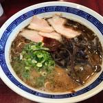 拉麺 空海 - 人気No.1 黒豚骨ラーメン=630円