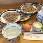 渚庵 - 料理写真:皿そば (皿そば単品では880円)