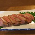 渚庵 - 鴨皿(鴨ロースと皿そばのセット)   1,300円
