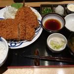71675233 - 茶美豚おろしカツ膳+アジフライ