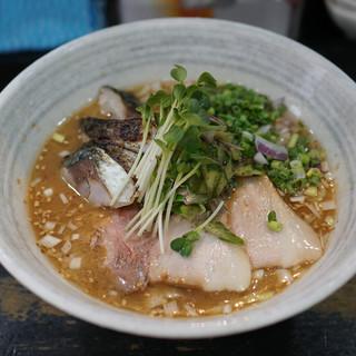 らぁめんこはく - 料理写真:炙りシメサバ冷やし汁麺