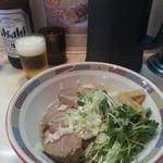 宝華 - チャーシュー宝そば&ビール(大瓶)2017.8.16