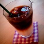 ハナミズキカフェ - アイスカフェオレ