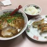 岡山中華そば 後楽本舗 - そば定食(720円)
