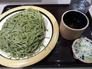 狭山そば 所沢店 - 茶そば¥450+大盛¥100