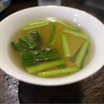 麺菜館 楽屋 - 青菜のスープ