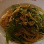 ラ・ベットラ・ダ・オチアイ - ずわい蟹と季節野菜、からすみアーリオ・オーリオ・スパゲッティーニ