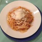 オステリア ジラソーレ - フレッシュトマト、バジリコ、パルミジャーノのチーズのスパゲティ(大盛)