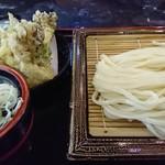まつり茶屋 - 舞茸天ぷら付きざるうどん
