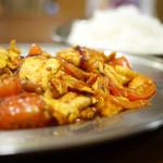 プルジャ ダイニング - 料理写真:ネパールトマトの卵炒め&ライス