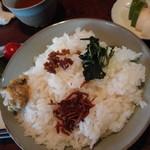 波浮港 - ご飯のお供4種載せ