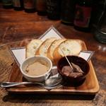 バーバー東京 - ほろほろ鳥の砂肝コンフィとレバーペースト