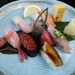 さかえ寿司 - 寿司ランチのお寿司
