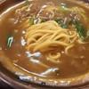 ロッキー - 料理写真:鍋焼き カレーうどん  細麺です