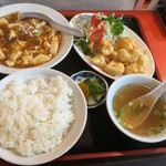 鳳鳴春 - 麻婆豆腐定食800円