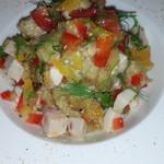 71715299 - 焼きナスと鶏むね肉のサラダ仕立て