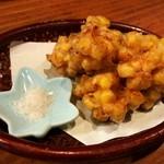 たたき亭 - トウモロコシのかき揚げ