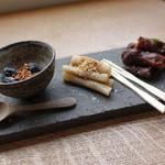 wad omotenashi cafe - ☆お茶うけ3種盛り(#^.^#)☆