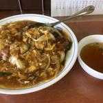 温品飯店 - カツ丼