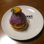 洋菓子の森コスモス - YAZAWAのお皿とおいものモンブランです。