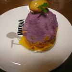 洋菓子の森コスモス - おいものモンブランを食べる直前です。ありがたい。