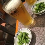 続百里香 - 男気ビール880円とお通し300円