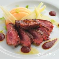 リストランテ ラ チャウ - 『シャラン産鴨ムネ肉のローストとフォアグラのソテー』