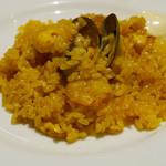 スペイン料理銀座エスペロ - 魚介類のパエジャ
