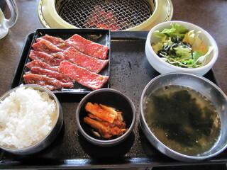 土古里 上野バンブーガーデン店 - カルビのランチです