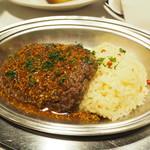 71731696 - フランス風牛挽き肉のステーキ マスタードソース
