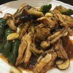 みょうが屋 - 料理写真:刀根鶏の四川炒め物