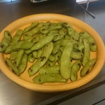 鉄板空間堂  - 焼き枝豆