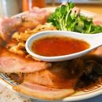 サバ6製麺所 - サバ醤油そば(スープ)