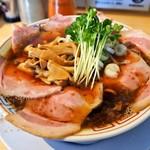 サバ6製麺所 - サバ醤油そば 肉増し