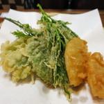 たけのこ - 野菜の天麩羅とタケノコの唐揚げ