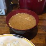 喫茶ドンドン - 味噌汁付き。