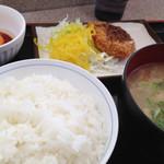 白鳥パーキングエリア(上り線) フードコート・スナックコーナー - 豚汁定食(670円)